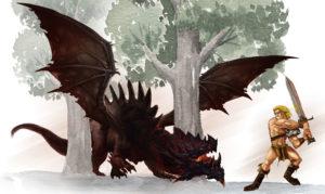 Entwurf - Siegfried der Drachentöter